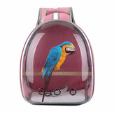 Pet Gato Parrot Bird Carrier Travel Mochila de cápsula espacial transparente transpirable de viaje