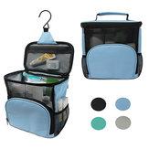 600D poliészter vízálló mosogató táska függő smink kozmetikai tasak összecsukható tároló táska