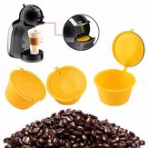 3Pcs/Set Colorful Refillable Coffee Capsule Cup Reusable Coffee Pods w/ Spoon Brush for Nescafe Dolce Gusto Brewer