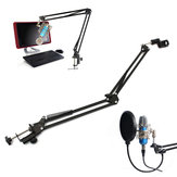 NB-35 Microphone Suspension Boom Scissor Arm Stand Microphone Holder For Broadcast