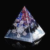 レイキエナジークリスタル用の大型アメジストクォーツ7チャクラオーゴンピラミッド