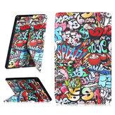 Складная подставка для планшета Чехол Чехол для Samsung Tab A 10.1 T510 - Doodle