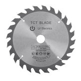 165mm TCT Circular Saw Blade 24T Cutting Disc For Wood Plastic Acrylic Woodworking