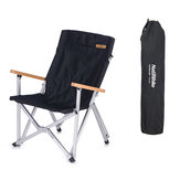 Naturehike PVC Oxford Folding Chair Ultra-Light Fishing Chair Camping Picnic BBQ Seat Max Load 120kg