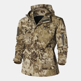 Mens Outdoor Cotton Thickened Windproof Camouflage Coats