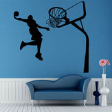 Decalcomanie decorative Art Decor rimovibili Basket Dunk Sport DIY Wall Sticker Kids Room