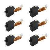 6 PCS TY Model 1.7g Servo Dengan JST 1.0mm Plug Kompatibel Spektrum 6400 Series Receiver Untuk RC Airplane