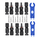 5pairs MC4 Connector Male Female 30A 1000V With 1pair MC4 Spanner Solar Panel Branch Series Connect Solar System