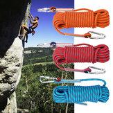 30mx10mm dvojitá přezka profesionální horolezecké lano venkovní sportovní přežití sjezdové bezpečnostní lano