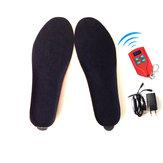 2000mAh充電式バッテリーワイヤレス加熱インソール冬ポータブル靴ブーツフットウォーマー41-46コード