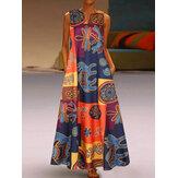 Elegancka sukienka damska bez rękawów z dekoltem w szpic i dekoltem w serek