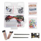 Composants électroniques 200pcs Kits de démarrage de base Résistance Buzzer Condensateur LED