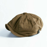 Collrown Men Vintage Painter Beret Caps Octagonal Newsboy Cap Cabbie Ivy Plano Chapéu