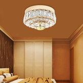 Ouro moderno rodada lustre de teto de cristal luz Pingente luminária decoração de casa
