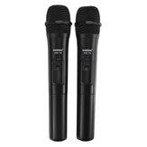 कराओके भाषण लाउडस्पीकर के लिए रिसीवर के साथ यूएचएफ यूएसबी 3.5 मिमी 6.35 मिमी वायरलेस माइक्रोफोन मेगा