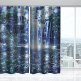 2 Panel 3D Pringting Blackout Window Curtains Screens Thermal Drapes For Study Room Bedroom