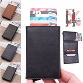 Men Leather Wallet Travel RFID Blocking Purse ID Credit Card Holder Coin Pockets