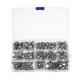 600Pcs M5 304 Stainless Steel Hex Socket Cap Head Screw Washer Nut Kit 6-30mm Optional Length