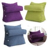 Lã de pérolas ajustável Cunha Voltar Travesseiro Leitura Apoio de Cama Resto Apoio Thwartwise Almofada de Alívio da Dor
