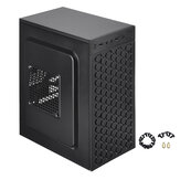 Micro ATX ITX Zwart USB 2.0 Office Gaming Computer Destop Case PC Cases LED Fan
