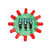 Set di kit elettronici fai-da-te LED Kit di produzione di luci rotonde per l'addestramento di abilità saldatura Parti di pratica