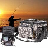 ZANLURE Sac de pêche en toile Sac de pêche étanche Leurre de pêche Sac à main multifonctionnel