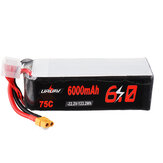 URUAV 22.2V 6000mAh 75C 6S Lipo Battery XT60 Plug for 600 700 800 RC Helicopter