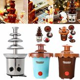 4 Tiers 170W Chocolate Fondue Fountain Maker Heated Melting Xmas Party Fondue Machine