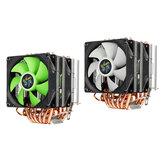Aurora 3 Pinos Ventilador Duplo 6 Tubo de Cobre Torre Dupla CPU Dissipador de Calor Do Ventilador de Refrigeração para Intel AMD