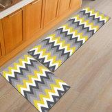 2pcs cozinha piso tapete antiderrapante tapete de área Banheiro tapete de porta