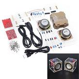 Kit de production de haut-parleur 3W DIY Electronic avec coque transparente 2.36 pouces 1 mini-ordinateur Audio Electronics Kit de bricolage