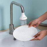 Küchenarmatur Spritzwassergeschützter Filter Haushaltsdruckdüse Verlängerung Medizinischer Stein 360 ° Kopf Wasserfilter Economizer Wasserhahn