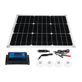 60W 18V Dual USB Solar Panel Battery Charger Monocrystal Solar Power Panel with 40A Solar Controller for Car Moto Motorboat