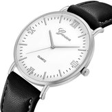 DEFFRUN XR3252 Simple Dial Design Leather Strap Casual Watch