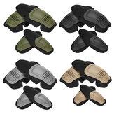4本の戦闘保護戦術的な膝肘プロテクターパッド