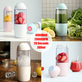 Portable Camping USB Electric Fruit Juicer squish Smoothie Maker Blender Shaker Cup Mug