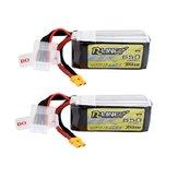 2 Stks Tattu R-Line V1.0 14.8 V 650 mAh 95C 4S Lipo-batterij XT30 Plug voor RC FPV Quadcopter