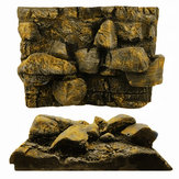 3D PU Rock Stone Aquarium Background Backdrop Reptile Board Fish Tank Decorations