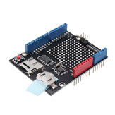 Data Logger DataLog Shield MicroSD-card + DS1307 RTC Module RobotDyn for Arduino - products that work with official Arduino boards