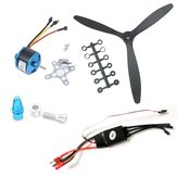 2212 1400KV KV1400 Brushless Motor+30A ESC+8060 3 Leaf Propeller Power System Combo Support 2S-3S LiPo for RC Airplane Fixed Wing Aircraft