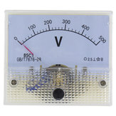 85C1-V DC Pointer Voltmeter Voltage Meter 5V / 50V / 100V / 250V 85C1 Series Analog Volt Meter 64 * 56 mm Ukuran