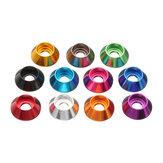 Suleve ™ M2AN2 10 Adet M2 Fincan Kafası Hex Vida Conta Yıkayıcı Somunları Alüminyum Alaşımlı Renkli İsteğe Bağlı