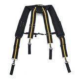 Heavy Duty Tool Belt Suspender for Reducing Waist Pressure Tool Pouch with 4pcs Support Loops