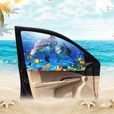 Cartoon Magnetic Car Curtain Einstellbare Sonnenblende Autofenster Sun Blocks Baby UV Strahlenschutz