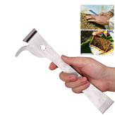KCASA Bee Honey Beekeeping Tools Set Edelstahl Daumen Typ Bee Hive Scraper Beekeeping Scraper Beekeeping Cutter Honey
