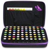 70 Garrafas 15 ml Essencial Óleo Armazenamento para Transporte Caso Travel Portable Bolsa Caixa