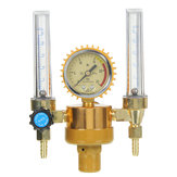 Argon Pressure Reducing Regulator Pressure Gauge 2 Tube Mig Tig Flow Meter Control Valve