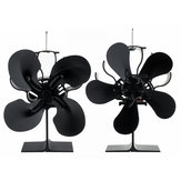 1500RPM 4/5 Blades Stove Fan Silent Fireplace Fire Heat Powered Saving Eco Fan No Electricity & Battery