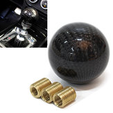 Carbon Fiber 5 6 Speed MT Fit Manual Transmission Gear Shift Knob Shifter Black
