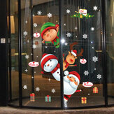 Miico SK9242 Christmas Sticker Window Door Wall Stickers Removable For Christmas Decoration